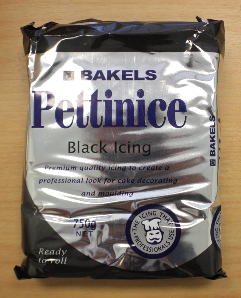 Bakels Black Fondant , Icings