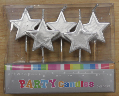 Silver Star Candles