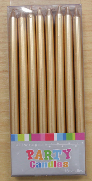 Taper Candles- Gold