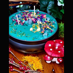 boho wicks witches brew cauldron candle