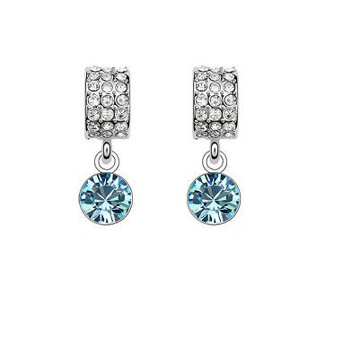 Platinum Plated Clementine Earrings