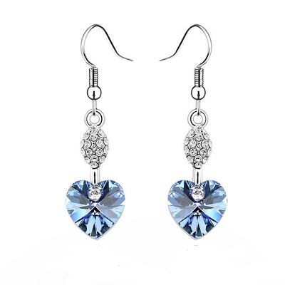 Platinum Plated Nicola Earrings