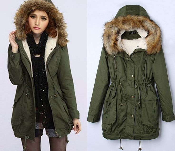 Bonicaro - FAUX FUR HOODED PARKA COAT
