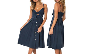 BOW TIE FRONT DRESS