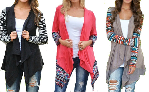 AZTEC SUMMER CARDIGAN- 3 COLOURS