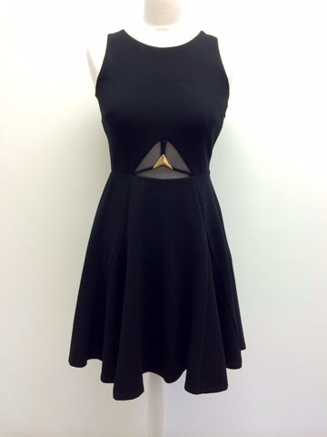 METAL STAR WAIST TRIM FIT AND FLARE  DRESS