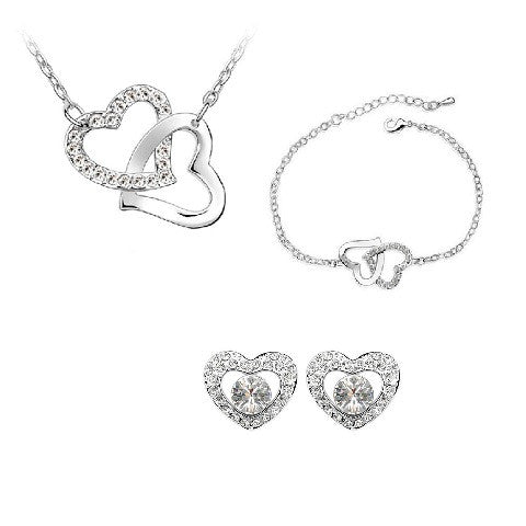 Platinum Plated Chiara set (3 pieces)