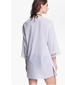 OPEN LACED TRIMMED TUNIC