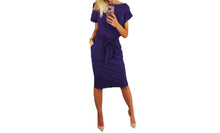 Load image into Gallery viewer, CHIC BELTED MIDI DRESS-THREE COLOURS