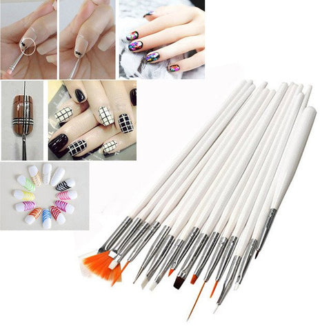 15 PIECE NAIL ART BRUSH KIT