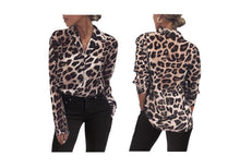 Load image into Gallery viewer, LEOPARD PRINT CASUAL SHIRT