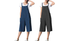 Load image into Gallery viewer, CROPPED SOFT DENIM JUMPSUIT