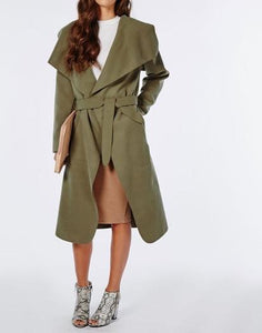 ASYMMETRICAL AND WATERFALL COAT