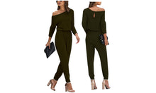 Load image into Gallery viewer, OFF SHOULDER JUMPSUIT - 4 COLOURS