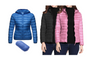 PACKABLE ULTRALIGHT HOODED /COLLAR  PUFFER JACKET