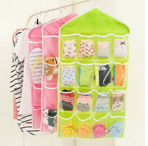 16 POCKET MULTI-FUNCTION HANGING CLOSET ORGANISER