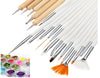 20 PIECE BRUSH KIT + 12 JARS GLITTER DUST