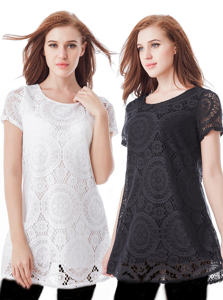 DENTELLE TUNIC DRESS