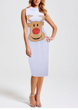 Load image into Gallery viewer, REINDEER MIDI DRESS