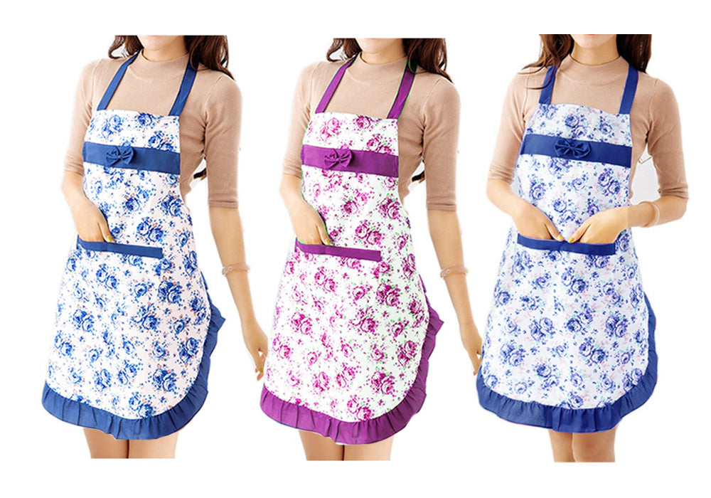 FLORAL COOKING APRON