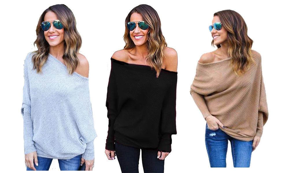 KNITTED OFF SHOULDER JUMPER