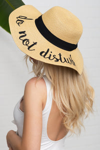 'DO NOT DISTURB' HAT