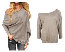Load image into Gallery viewer, KNITTED OFF SHOULDER JUMPER- 8-18 (5 COLOURS)