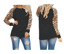 Load image into Gallery viewer, ANIMAL PRINT SLEEVE TOP