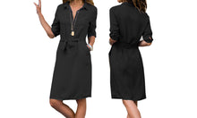 Load image into Gallery viewer, TIE WAIST SHIRT DRESS - FOUR COLOURS