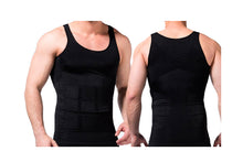 Load image into Gallery viewer, BLACK AND WHITE SLIMMING MEN'S VEST
