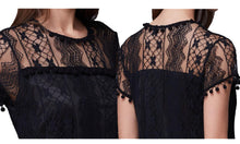 Load image into Gallery viewer, POM POM LACE DRESS