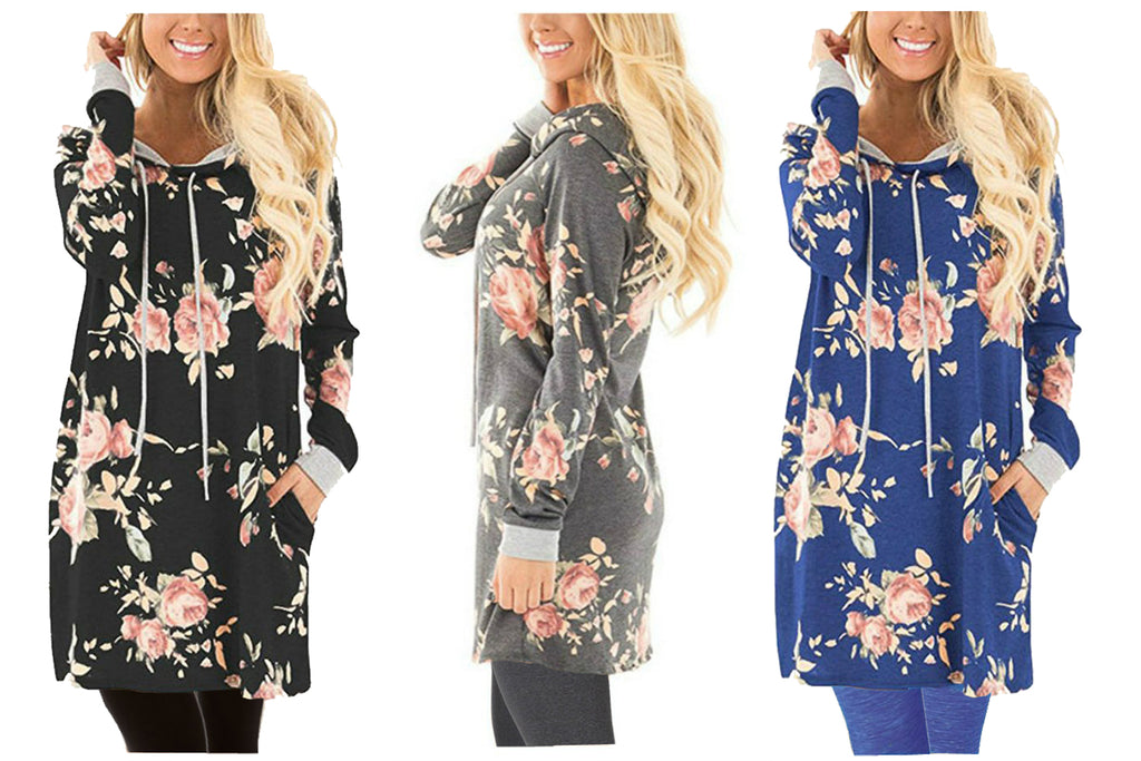 BLOOM HOODED TUNIC