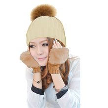 Load image into Gallery viewer, GABBIE POM-POM HAT + GLOVES SET