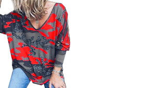 LONG SLEEVE CAMO TOP - 3 COLOURS