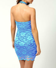 Load image into Gallery viewer, COCO LACE HALTERNECK DRESS