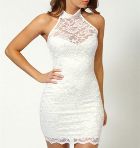 COCO LACE HALTERNECK DRESS