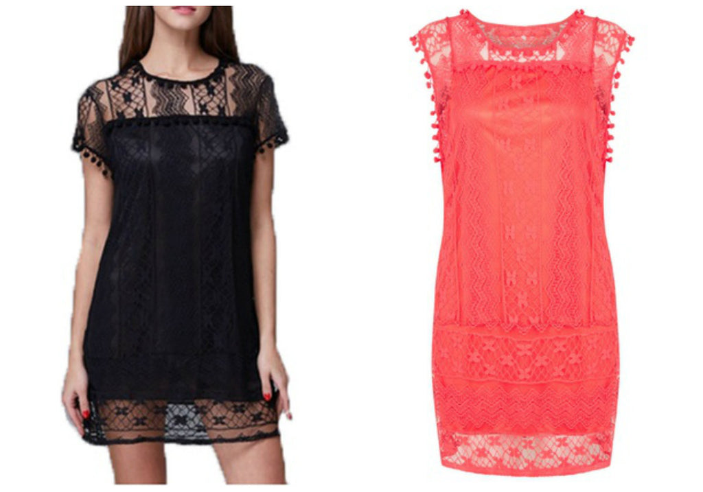 POM POM LACE  SUMMER DRESS
