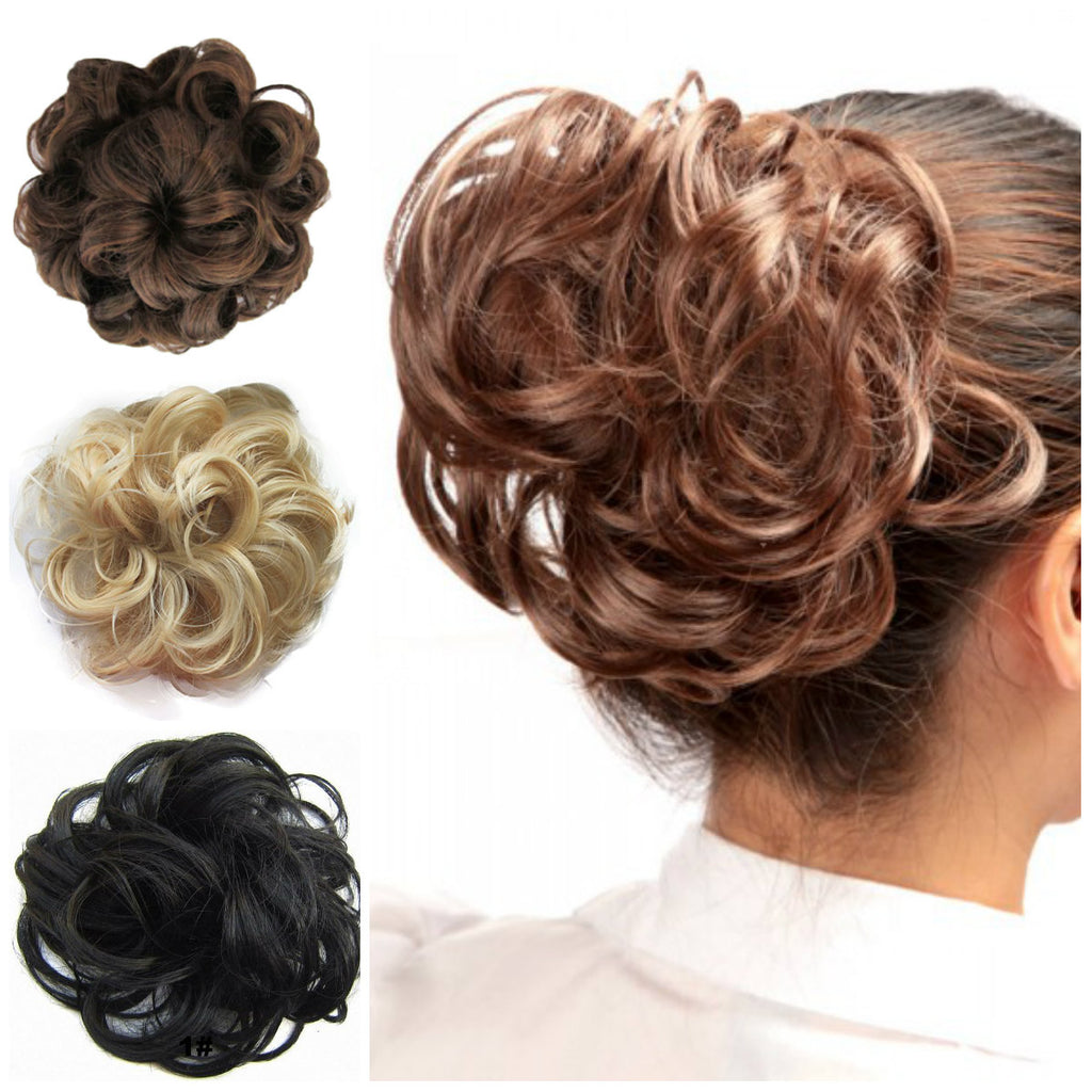 SCRUNCHIE HAIR UP BUN