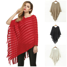 Load image into Gallery viewer, KNITTED PONCHO - 4 COLOURS