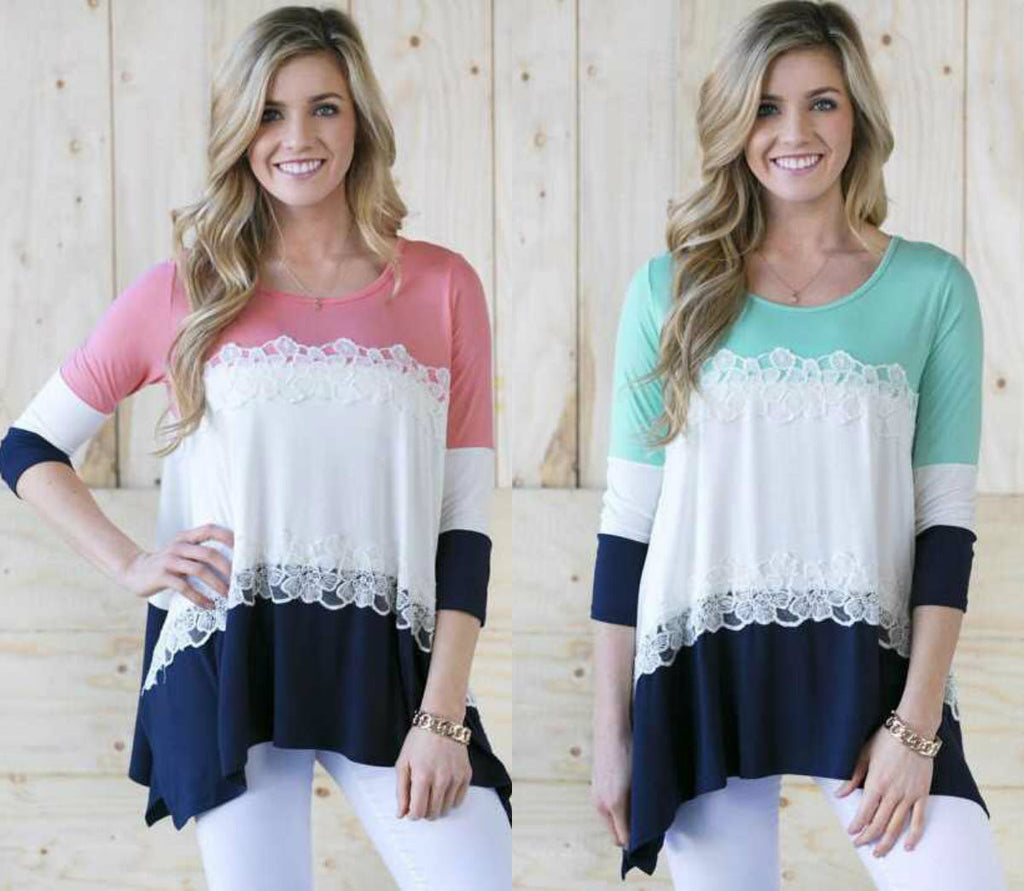 MULTI-COLOUR LACE TUNIC