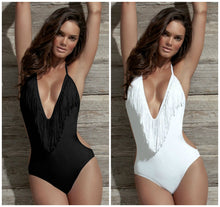 Load image into Gallery viewer, PLUNGE HALTER SWIMSUIT
