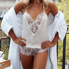 Load image into Gallery viewer, DREAM ANGELS SATIN&LACE ROMPER