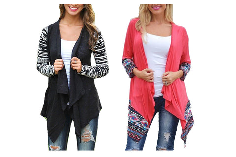 AZTEC WATERFALL CARDIGANS