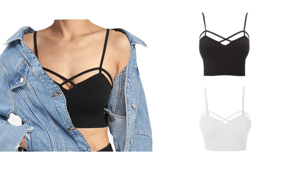 CRISSCROSS BRALETTE - TWO COLOURS