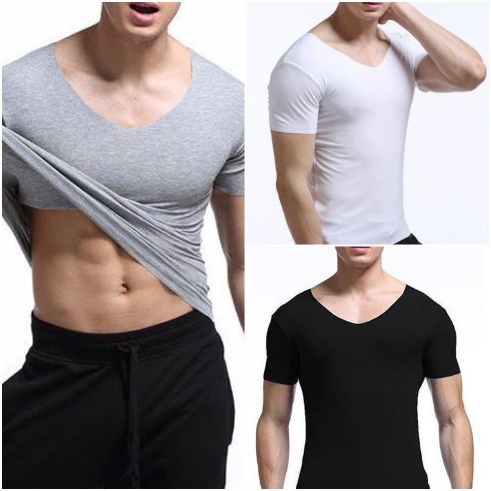 MEN'S SUPER SLIMMING V-NECK T-SHIRT