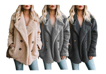 Load image into Gallery viewer, DOUBLE BREASTED TEDDY COAT