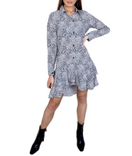 Load image into Gallery viewer, RUFFLE SHIRT DRESS
