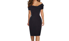 Load image into Gallery viewer, OFF SHOULDER BODYCON MIDI DRESS