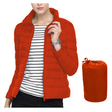 Load image into Gallery viewer, PACKABLE ULTRALIGHT HOODED /COLLAR  PUFFER JACKET