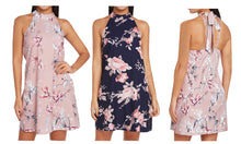 Load image into Gallery viewer, FLORAL HALTER NECK DRESS
